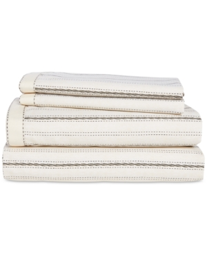 Lauren Ralph Lauren Taylor Cotton 200-Thread Count 4-Pc. Stripe King Sheet Set Bedding