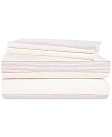 Lauren Ralph Lauren Marley Cotton 180-Thread Count 4-Pc. Stripe Queen Sheet Set