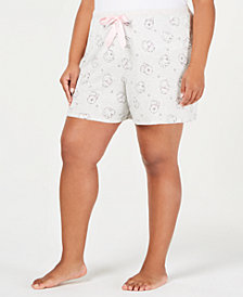 Jenni by Jennifer Moore Plus Size Printed Core Pajama Shorts, Created for Macy's