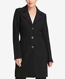 DKNY Four-Pocket Duster Jacket, Created for Macy's