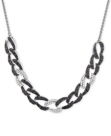 "Diamond Large Link 26"" Slider Necklace (1 ct. t.w.) in 14k White Gold, Created for Macy's"