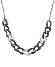 "Wrapped in Love™ Diamond Large Link 26"" Slider Necklace (1 ct. t.w.) in 14k White Gold, Created for Macy's"