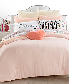 Whim By Martha Stewart Collection Crinkle 3-Pc. Carnation Full/Queen Comforter Set, Created for Macy's