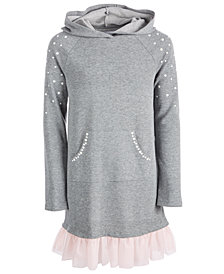 Epic Threads Big Girls Hooded Sweatshirt Dress, Created for Macy's