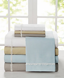 Pom Pom 4 Pc Queen Microfiber Sheet Set