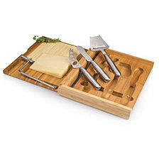 Picnic Time Soirée Cheese Cutting Board & Tools Set with Wire Cutter