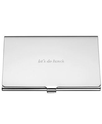 Kate spade new york silver street business card holder macys kate spade new york silver street business card holder reheart Images