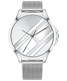 Tommy Hilfiger Women's Stainless Steel Mesh Bracelet Watch 38mm Created for Macy's