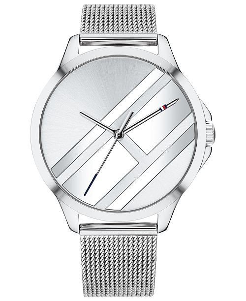 388d7268 Tommy Hilfiger. Women's Stainless Steel Mesh Bracelet Watch 38mm Created  for Macy's