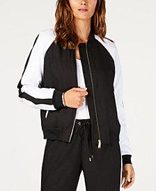 MICHAEL Michael Kors Zip-Front MKGO Bomber Jacket