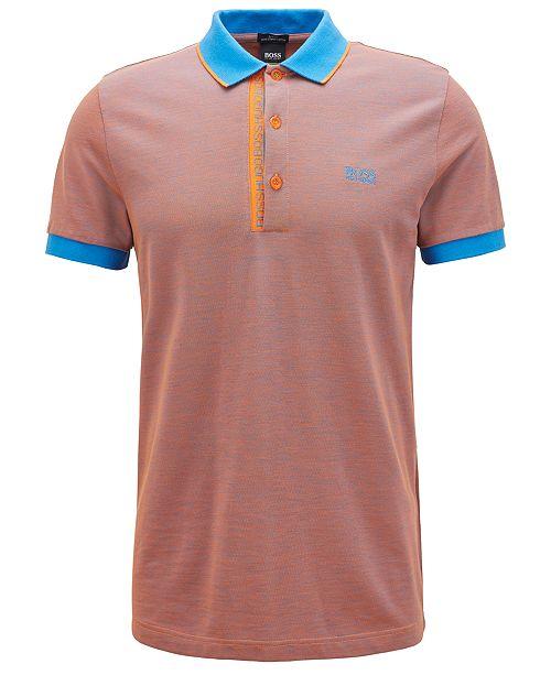 e12d8de8fd ... Polo Shirt; Hugo Boss BOSS Men's Slim-Fit Logo Print Cotton  Piqué ...