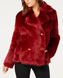 MICHAEL Michael Kors Faux-Fur Coat, In Regular & Petite Sizes