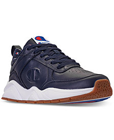Champion Men's 93Eighteen Leather Casual Sneakers from Finish Line