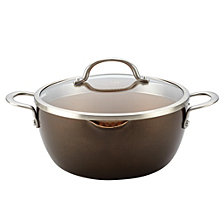 Ayesha Curry Home Collection Porcelain Enamel Nonstick 5.5-qt Covered Straining Casserole