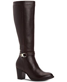 Giani Bernini Rozario Memory-Foam Wide-Calf Dress Boots, Created for Macy's