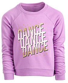 Ideology Little Girls Dance-Print Sweatshirt, Created for Macy's