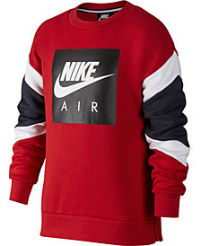 Nike Big Boys Air-Print Colorblocked Sweatshirt