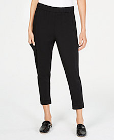 Eileen Fisher Tencel® Slouchy Cropped Pants, Regular & Petite