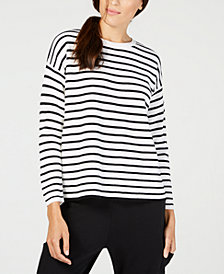 Eileen Fisher Merino Wool Striped Sweater, Regular & Petite