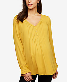 A Pea In The Pod Maternity V-Neck Blouse