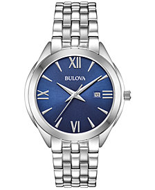 Bulova Men's Stainless Steel Bracelet Watch 42mm