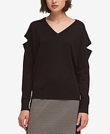 DKNY Studded Cutout Sweater, Created for Macy's
