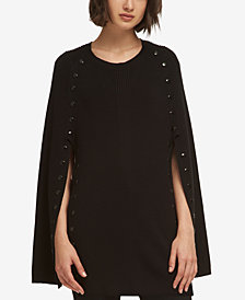 DKNY Studded Poncho Cape, Created for Macy's