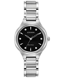 Citizen Eco-Drive Women's Corso Diamond-Accent Stainless Steel Bracelet Watch 29mm