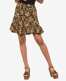 MICHAEL Michael Kors Printed Flounce-Hem Skirt