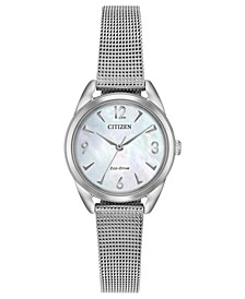Drive from Citizen Eco-Drive Women's Stainless Steel Mesh Bracelet Watch 27mm