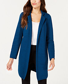 Alfani Jacquard Open-Front Jacket, Created for Macy's