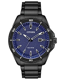 Drive From Citizen Eco-Drive Men's Black Stainless Steel Bracelet Watch 45mm