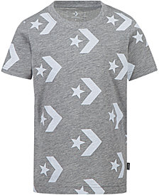 Converse Big Boys Chevron Star Graphic Cotton T-Shirt