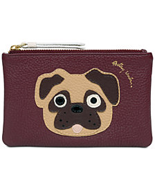 Radley London Pug Zip-Top Pebble Leather Coin Wallet in support of the ASPCA