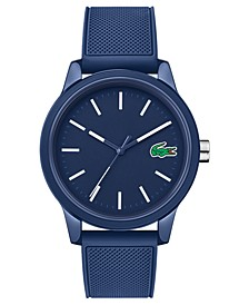 Men's 12.12 Blue Silicone Strap Watch 42mm