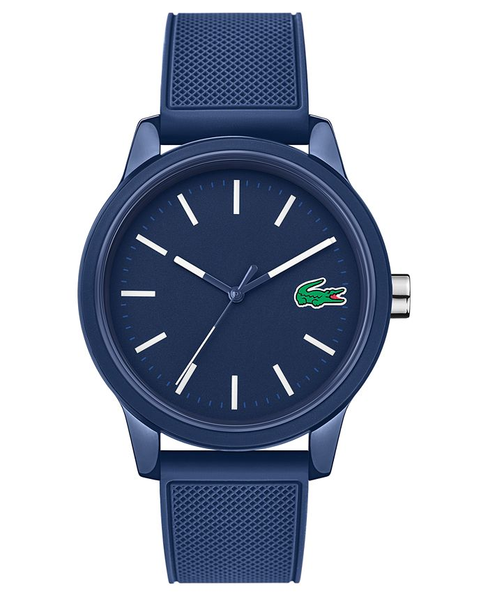 Lacoste - Men's 12.12 Blue Silicone Strap Watch 42mm
