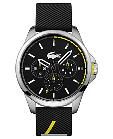 Men's Capbreton Black Silicone Strap Watch 46mm