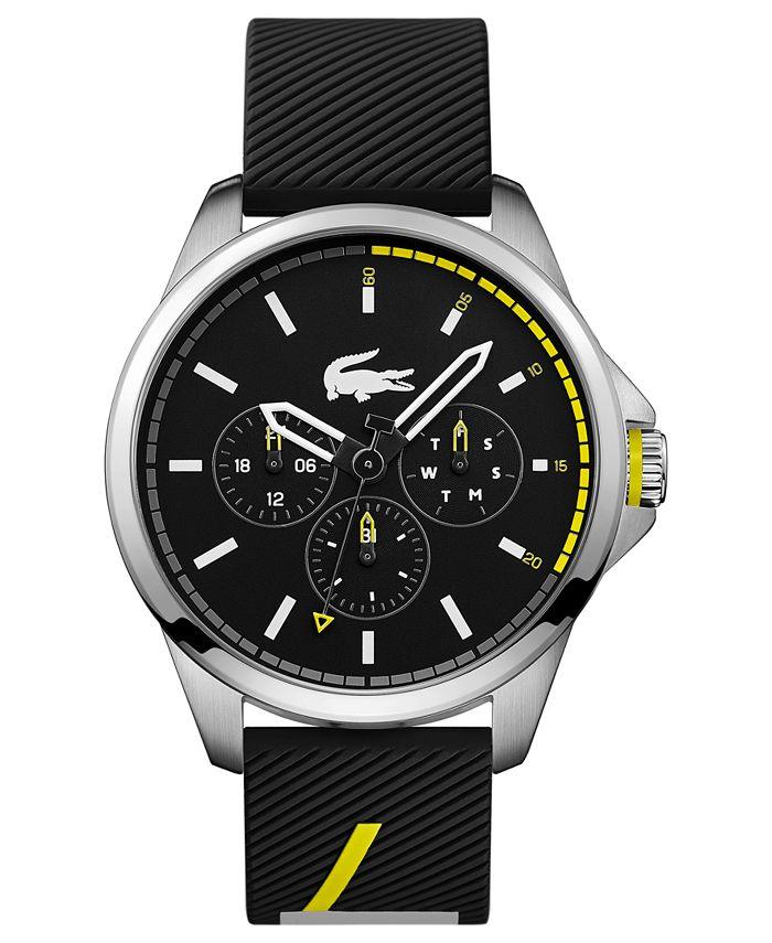 Lacoste - Men's Capbreton Black Silicone Strap Watch 46mm
