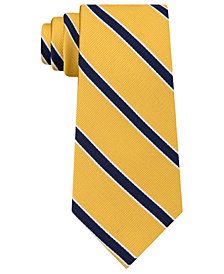 Tommy Hilfiger Men's Preppy Stripe Silk Tie