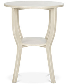 Rhodes Round Pedestal Accent Table, Quick Ship