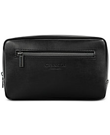 Receive a Complimentary Toiletry Pouch with any large spray purchase from the Calvin Klein Men's fragrance collection