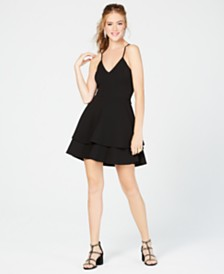 e568ef414f87f B Darlin Juniors  Lace-Back Fit   Flare Dress
