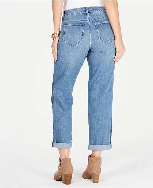 98728e25108 Style   Co Colorblocked Cropped Boyfriend Jeans