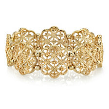 2028 Gold-Tone Filigree Bracelet