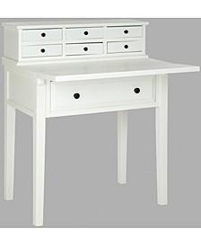 Abigail 7-Drawer Fold Down Desk, Quick Ship