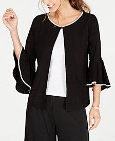 MSK Petite Embellished Bell-Sleeve Jacket