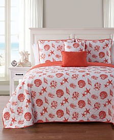 VCNY Home Marco Island Shells Quilt Set Collection