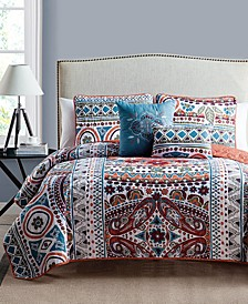 Natasha Reversible 5-Pc. Full/Queen Quilt Set