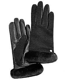 UGG® Mixed Media Shorty Touch Gloves