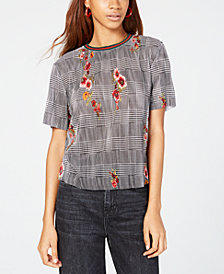 Gypsies & Moondust Juniors' Mixed-Print Bodre Top
